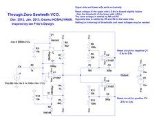 Through-Zero Sawteeth VCO with 2 Reset Circuits.