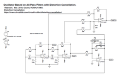 Sine Wave Oscellator with Distortion Cancellation