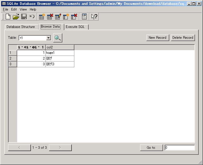 SQLite Database Browser - Browse Data