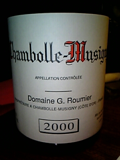 George Roumier Chambolle-Musigney 2000
