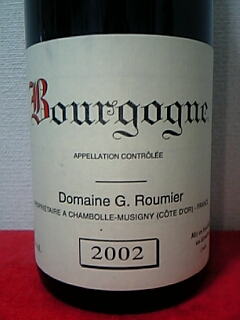 Georges Roumier Bourgogne Rouge 2002
