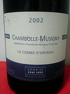 Anne Gros Chambolle-Musigny La Combe D'orveau 2002
