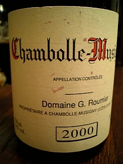 G.Roumier Chambolle-Musigny 2000