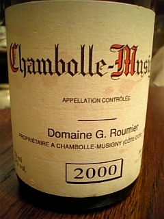 Domaine G.Roumier Chambolle-Musingny 2000