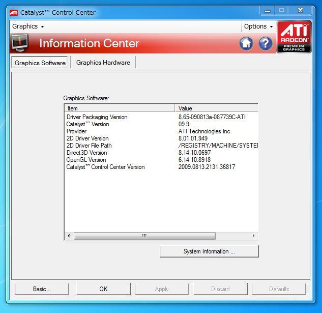 ATI Catalyst version 9.9 UPされています