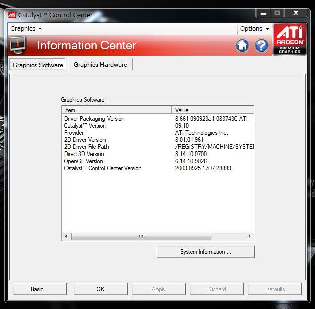 ATI Catalyst version 9.10 UPされています!