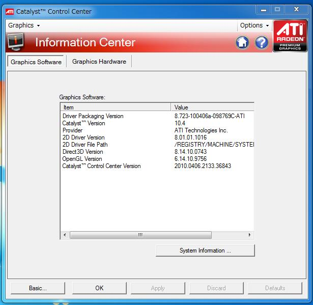 ATI Catalyst version 10.4 UPされています