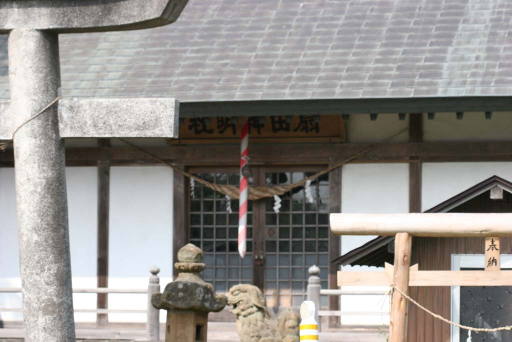 扇田神明社の狛犬 Komainu of Oogida Shinmeisha Shrine