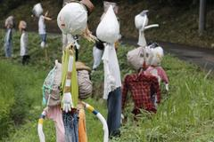 Scarecrows 三輪の里の案山子