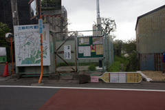 Bus stop 倒れた停車場