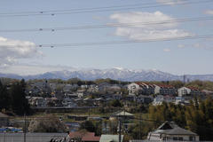 Snowy mountains of spring 春の雪山