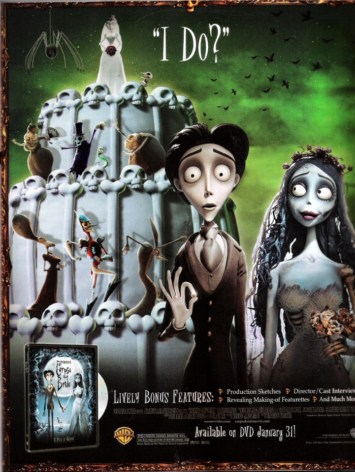 Corpse Bride is top animated film