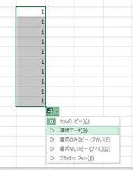 Excel 連続データを降順に並べたい
