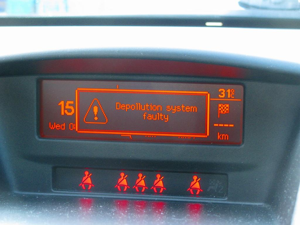 depollution system faulty peugeot 207