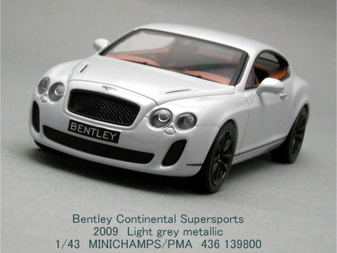 「Bentley Continental Supersports」MINICHAMPS 1/43