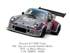 LeMans 1974「Porsche 911 RSR Turbo #22」EBBRO 1/43
