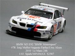 "LeMans 2010「BMW M3 #78 ""BMW Motorsport""」Spark 1/43"