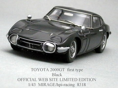 「TOYOTA 2000GT Black/Web Ltd Edition」hpi 1/43