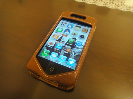 iPhone4:PDAIRレザーケース for iPhone4スリーブタイプを買った