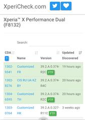 Xperia X performance F8132 にアップデート 39.2.A.0.374