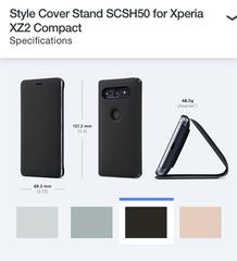 Xperia XZ2 Compact の公式アクセサリー SCSH50 と SCTH50