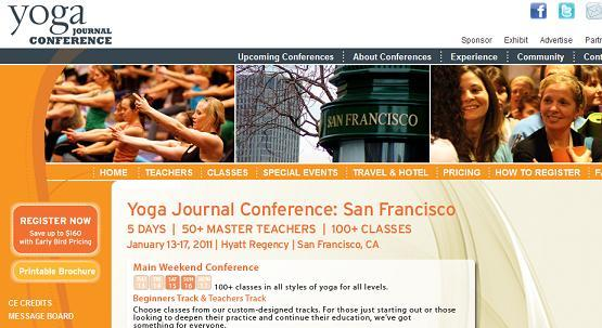 「Yoga Journal Conference 2011」、1月13日〜17日に開催