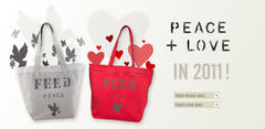 """PEACE & LOVE"" FEEDバッグ"