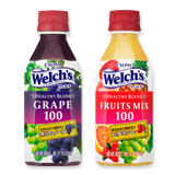 「『Welch's』HEALTHY BLEND」グレープ100&フルーツミックス100