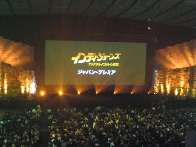 I went to the Japan Premiere of Indiana Jones