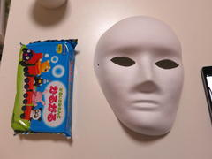 お面の作り方(How to make a paper mask.)