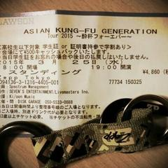 ASIAN KUNG-FU GENERATION Tour 2015 酔杯フォーエバー@Zepp東京