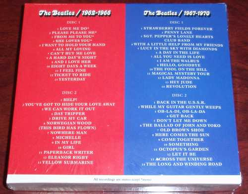 The Beatles 『The Red Album & The Blue Album』 Back