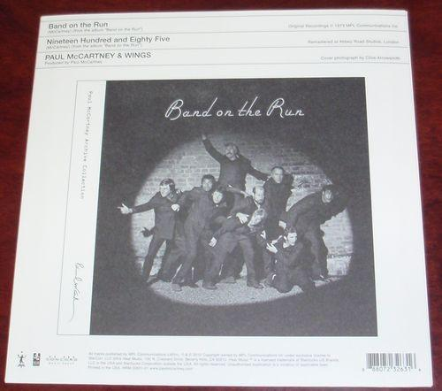 Paul McCartney & Wings 『Band On The Run』 Single Back