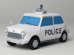 [ペーパークラフト]Austin mini cooper s patrol car 1969
