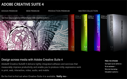 Adobe、「Adobe Creative Suite 4」を発表