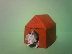 DOG IN A DOGHOUSE