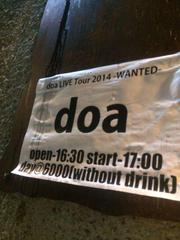doa LIVE Tour 2014 「WANTED」@名古屋!