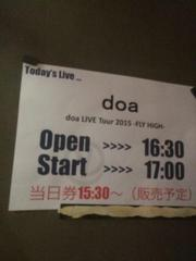 doa LIVE TOUR 2015 -FLY HIGH- @岡山 IMAGE♪