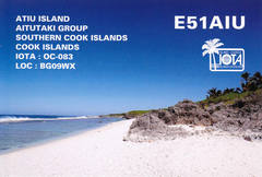 Newly arrived QSL from E51AIU