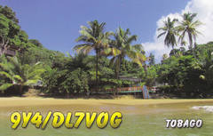 Newly arrived QSL from 9Y4/DL7VOG