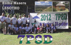 Newly arrived QSL from 7P8D
