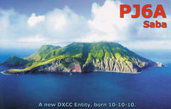 Newly arrived QSL from PJ6A
