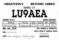 Newly arrived QSL from LU9AEA