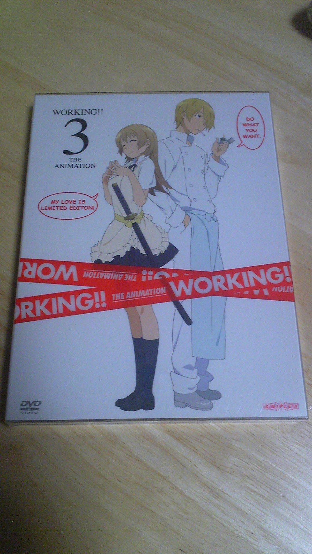 「WORKING!!」DVD3巻購入〜