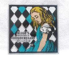 ALICE'S ADVENTURES IN WONDERLANDガラスタイルオブジェ