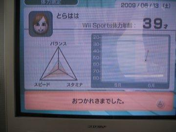 「Wii Sports」の体力測定