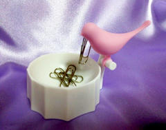 ヽ( *^>θ  MARNA の BIRD PAPER CLIP HOLDER  θ<^* )ノ