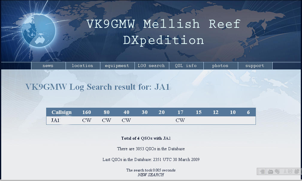 VK9GMW 160&80mの結果