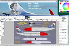 AIA/B737MAX8 ペイントキット試用記