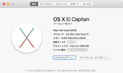 Mac mini(Late 2014)をEl CapitanへUG、Split Viewに感動。